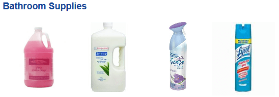 Bathroom Supply and Cleaning Products