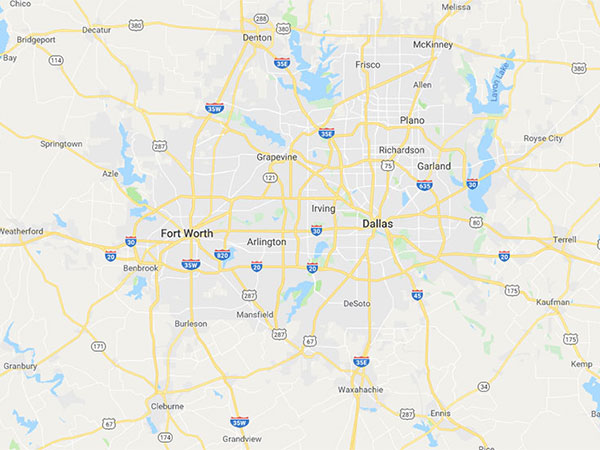 Dallas / Fort Worth Area Map