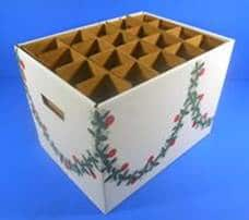 Bottle-holding box cardboard holiday packaging - Leaman Container